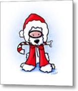 Kiniart Snorkel Westie Santa Metal Print