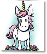 Kiniart Unicorn Sparkle Metal Print