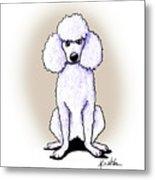 Kiniart White Poodle Metal Print