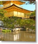 Kinkakuji Golden Pavilion Kyoto Metal Print