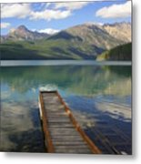 Kintla Lake Dock Metal Print