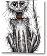 Kipper The Kitty Metal Print