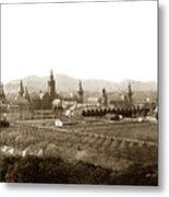 Kirkbride At Napa State Hospital In California Circa 1890 Metal Print