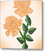 Kiss From A Rose Metal Print