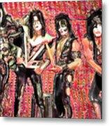 Kiss Watercolor Metal Print