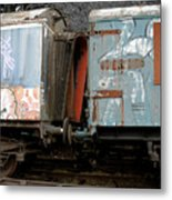 Kissing Cars Metal Print