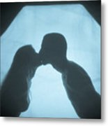 Kissing Metal Print