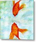 Kissy Fish Metal Print