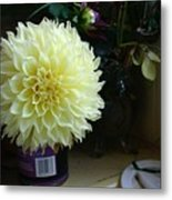Kitchen Dahlia Metal Print