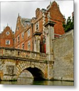 Kitchen Or Wren Bridge And St. Johns College From The Backs. Cambridge. Metal Print
