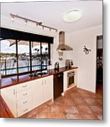 Kitchen With A River View Metal Print