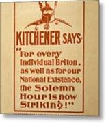 Kitchener Redux - Vote Metal Print