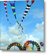 Kite Festival At Lincoln City Oregon Metal Print by Margaret Hood