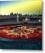 Kite Hill Sundial Metal Print