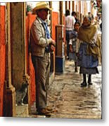 Kitten In The Doorstep, Patzcuaro Metal Print