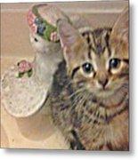 Kitten Love Metal Print