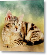 Kitten - Painting Metal Print