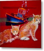 Kittens On The Beach Metal Print