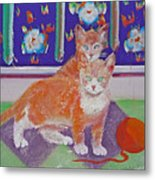 Kittens With Wild Wool Metal Print