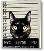 Kitty Mugshot Metal Print