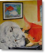 Kitty's Dream Metal Print