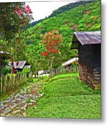 Kiwi Village Of Papua Metal Print