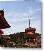 Kiyomizu-dera In Bloom Metal Print