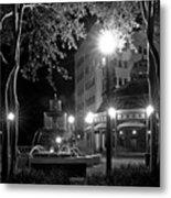Kleman Plaza At Night Metal Print