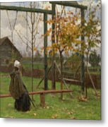 Klever, Yuli The Younger 1882-1942 Autumn Twilight Metal Print