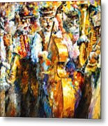 Klezmer Cats - Palette Knife Oil Painting On Canvas By Leonid Afremov Metal Print
