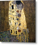 Klimt: The Kiss, 1907-08 Metal Print