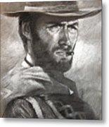Klint Eastwood Metal Print