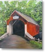 Knechts Covered Bridge Metal Print