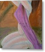 Kneeling Lady  Metal Print