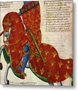 Knight, 14th Century Metal Print