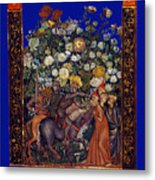 Knight Blossoms Metal Print