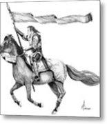 Knight In Armor Metal Print