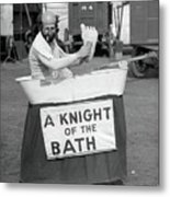 Knight Of The Bath Metal Print