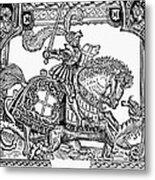 Knights: English, 1527 Metal Print