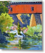 Knights Ferry Bridge Metal Print