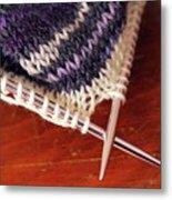 Knitting Metal Print