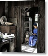 Knitting Room Metal Print