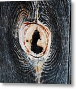 Knot In The Board Metal Print