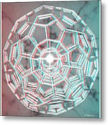 Knotplot 3 - Use Red-cyan 3d Glasses Metal Print