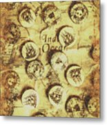 Knots And Buttons Metal Print