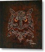Knotty Owl Metal Print