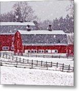 Knox Farm Snowfall Metal Print by Don Nieman