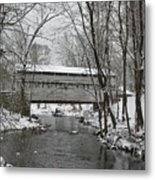 Knox Valley Forge Covered Bridge In Winter Metal Print