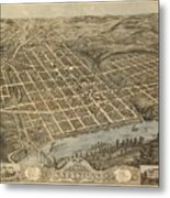 Knoxville Tennessee 1871 Metal Print