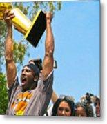 Kobe And The Trophy Metal Print